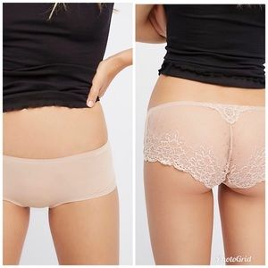 Free People Smooth Lace Back Hipster Panty XS NWT